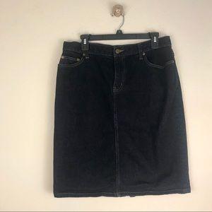 Lauren Ralph Lauren Denim Knee Length Skirt Sz 10